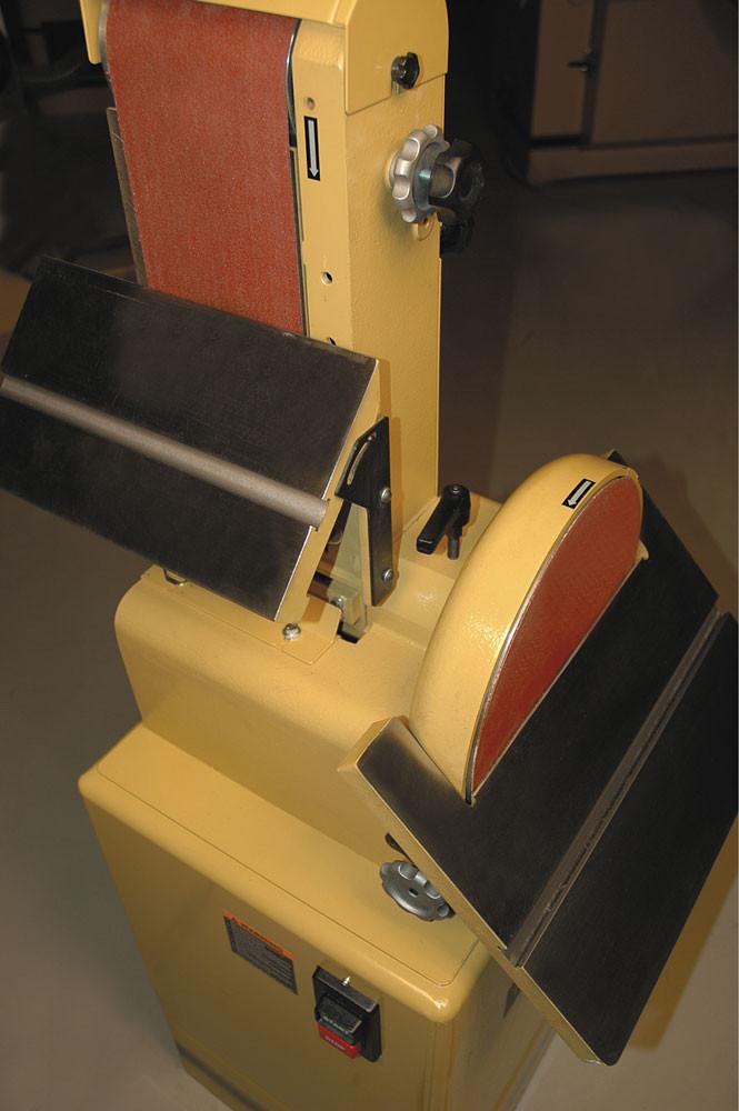 Powermatic 31A Тарілчасто-стрічковий шліфувальний верстат (230 В) фото 4