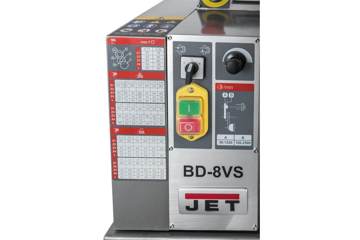 JET BD-8VS Настільний токарний верстат по металу фото 13